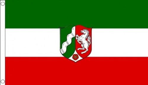 AZ FLAG Flagge Nordrhein-Westfalen 150x90cm - Nordrhein-Westfalen Fahne 90 x 150 cm - flaggen Top Qualität
