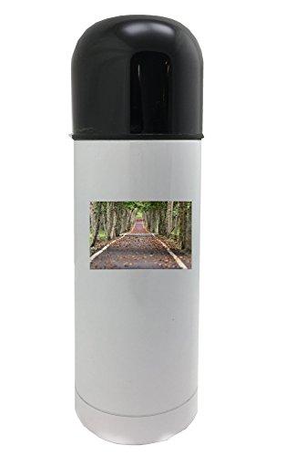 Fotomax Woodland, Road, Hoja de Pesca, Natural 350 ML Termo Blanco