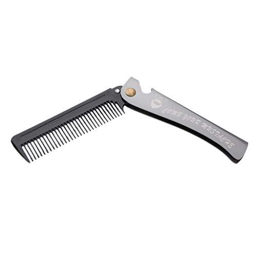 MagiDeal Peigne à Cheveux Pliable - Noir