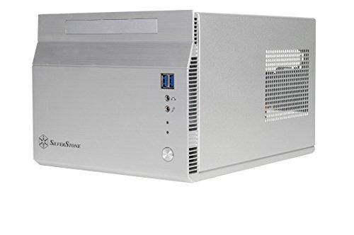 SilverStone SST-SG06S-Lite - Sugo Mini-ITX Compact Computer Cube Case, argento
