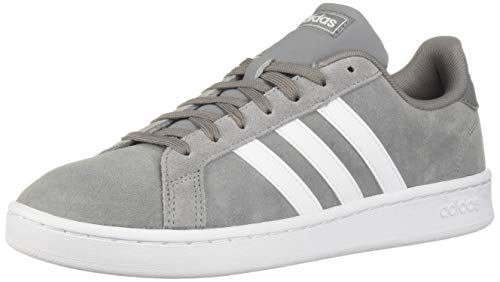 adidas Men's Grand Court Sneaker, Grey/White/Grey, 12