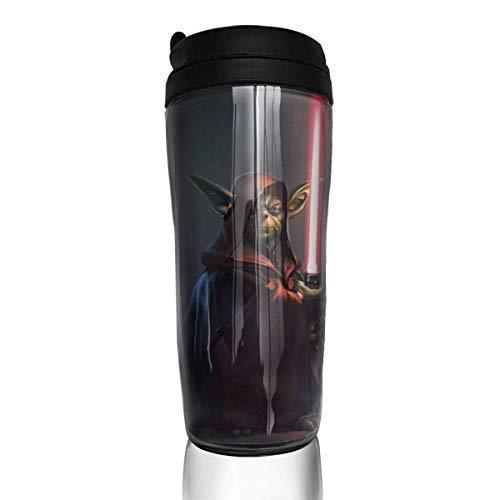 Star Wars Master Yoda - Tazas de café de viaje con doble pared al vacío, termo aislado, 12 onzas