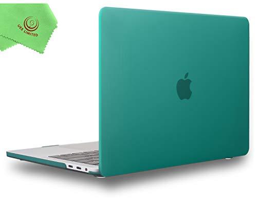 UESWILL MacBook Pro 13 pulgadas funda 2020 2019 2018 2017 2016 modelo A2338 M1 A2289 A2251 A2159 A1989 A1706 A1708, carcasa rígida mate para MacBook Pro de 13 pulgadas con USB-C, Verde pavo real
