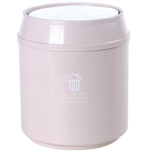 JUNword - Cubo de Basura con Tapa para Escritorio, 4 Unidades, portátil, Desmontable, Respetuoso con el Medio Ambiente