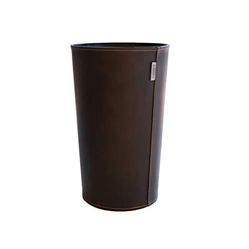 ZNZN Bote de Basura Canastas De Basura Cubo De Basura Clásico Basket De Papel De Papel para Baño, Cocina, Oficina Y Alta Clase De Hotel Papeleras (tamaño : 6L/1.5 gallons-Brown)