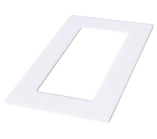 kekef Acrylglas Dekorrahmen weiß 1fach 2fach 3fach 4fach Tapetenschutz Wandschutz für Lichtschalter und Steckdosen (weiß 2-fach)