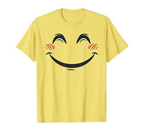Halloween Emoji Costume Shirt Smiling Blushing Face Emoticon T-Shirt