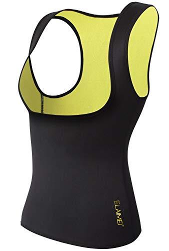 Women Hot Sweat Body Shaper Slimming Neoprene Shirt Vest Thermo Yoga Sauna Fat Burner Waist Shaper Trainer Cincher (L=6-8)