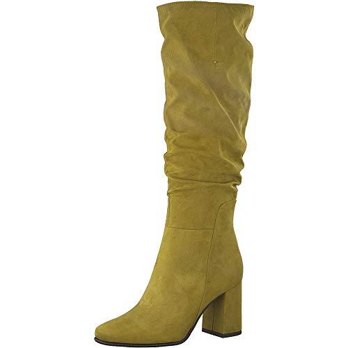 MARCO TOZZI Damen 2-2-25511-25 Langschaftstiefel Kniehohe Stiefel, Mustard, 37 EU