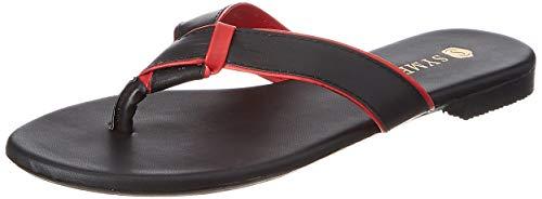 [Size 3] Amazon Brand - Symbol Women Slipper Red (AW20-AM-113)