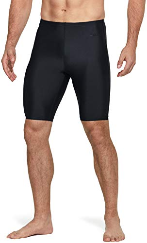 TSLA Men's Swim Jammer Racing Trunks UPF 50+ Sun Protection Endurance Triathlon Swimsuit, Classic(msj01) - Black, 36