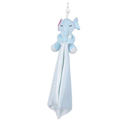 Baby Sicherheitsdecke, Kuscheltiere Sicherheitsdecke Beruhigendes Spielzeug für Kleinkinder Kinder, 10,23 x 9,84 Zoll(Blauer Elefant)