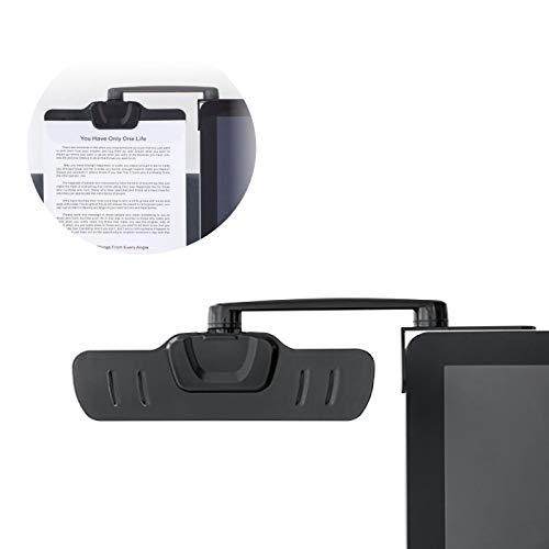 Allcam Over Monitor Paper Clip Document Holder Arm Ergonomic Document Clip Copyholder