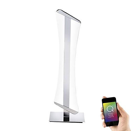 Paul Neuhaus, LED-tafellamp, smart home, RGBW-kleurverandering, warmwit, incl. afstandsbediening