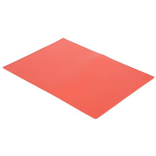 SALUTUYA Almohadilla de Espuma EVA Antideslizante roja, Espuma de Goma Negra, para Manualidades y Manualidades, Hojas Adhesivas Rojas de Fieltro Trasero
