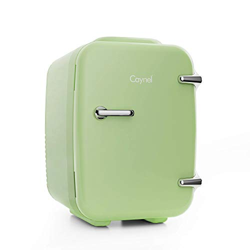 Mini Fridge Portable Thermoelectric 4 Liter Cooler and Warmer for Skincare, Eco Friendly Beauty Fridge For Foods,Medications, Cosmetics, Breast Milk, Medications Home and Travel