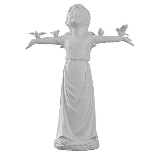LOSAYM Bustos Estatuas Figuritas Decoración Adornos De Escultura Estatua De Niña Manualidades De Yeso Decoración De Escritorio De Sala De Estar En Casa