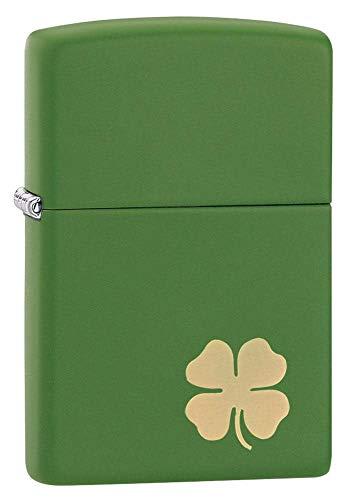 Zippo Clover Pocket Lighter, Moss Green Matte, One Size