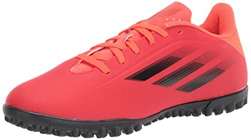 adidas Unisex X Speedflow.4 Turf Soccer Shoe, Red/Black/Solar Red, 10 US Men