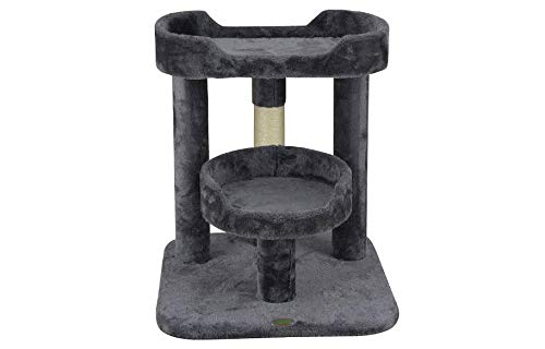 "Mix.Home Cat Tree with Large Perch, 23"" H. Best Choice for Your Pets. Kitty Posts. Cat's Stands. Best Cat Bed & Trees & Condos. Pet's Playground."