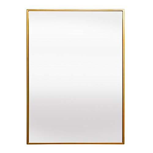 Elegance by Casa Chic – Gran Espejo de Pared Metálico – 90 x 60 cm – Metal Galvanizado – Oro