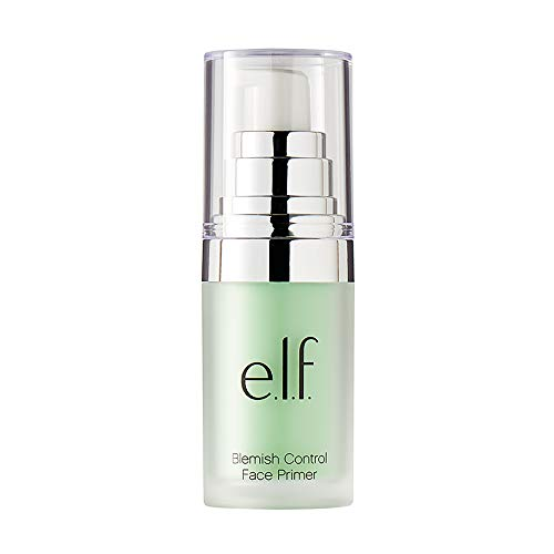 e.l.f., Blemish Control Face Primer - Small, Long Lasting, Skin Perfecting, Controls Breakouts and Blemishes, Matte Finish, Infused with Salicylic Acid, Vitamin E & Tea Tree, 0.47 Fl Oz