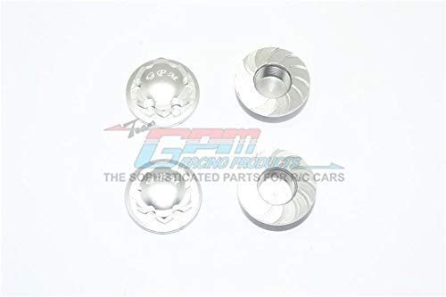 GPM Arrma Kraton 6S BLX (AR106005/106015/106018) Tuning Teile Aluminium Wheel Lock - 4Pc Set Silver