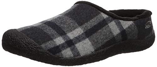 KEEN Women's HOWSER SLIDE Shoe, Black Plaid/Black, 8.5 M US