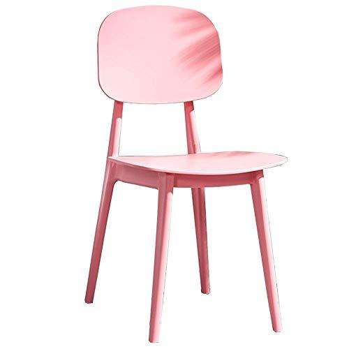 Stuhl Modernes Design Esszimmerstühle Home Erwachsenenstuhl PP-Material Kunststoff-Loungesessel Lagergewicht 120 kg Für Office Lounge (Farbe: Weiß)