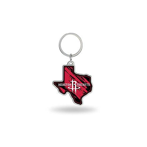 Rico Industries NBA State Shape Schlüsselanhänger, State Shape Keychain, rot, 2