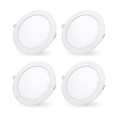 LED Recessed Lighting Retrofit, 7-inch 18 Watt 3000K Warm White Ultra-Thin LED Ceiling Can Light Downlight Easy Installation-4 Pack