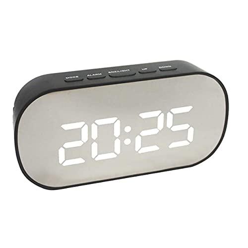 YLXAJKJGS-XCH Reloj Despertador con Pantalla Digital, Pantalla LED Multifuncional de Escritorio, Espejo, Reloj electrónico automático de alarmas