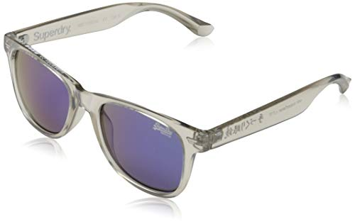 Superdry Mens SUPERFARER Sunglasses, Gloss Crystal Grey, One Size