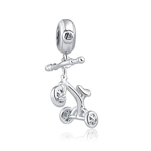 EVESCITY - Abalorios de plata de ley 925, muchos estilos para pulseras de abalorios, el mejor regalo para mujeres, niñas y mujeres