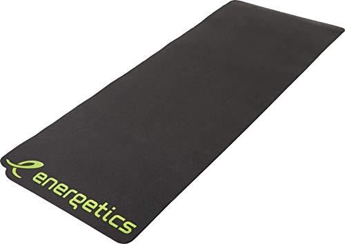 ENERGETICS Unisex– Erwachsene Body Fit XL Gymnastik-Matte, Black/Yellow, 180 x 60 x 1 cm