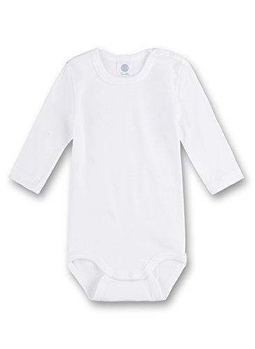 Sanetta 320700 Unisex - Baby Babykleidung/ Unterwsche/ Bodys, Weiß (Weiss), Gr. 74