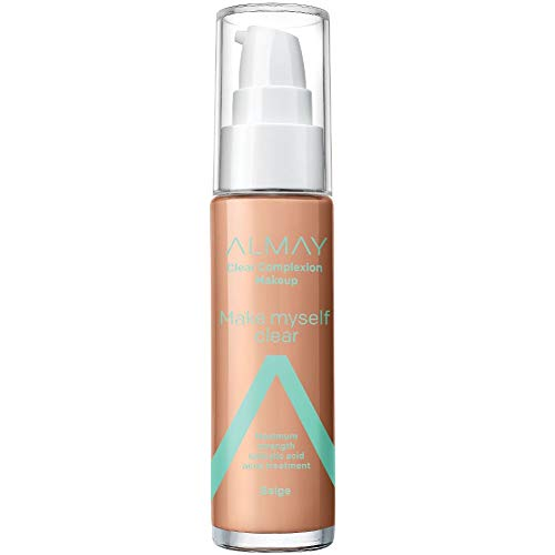 Almay Clear Complexion Makeup, Matte Finish Liquid Foundation with Salicylic Acid, Hypoallergenic,...