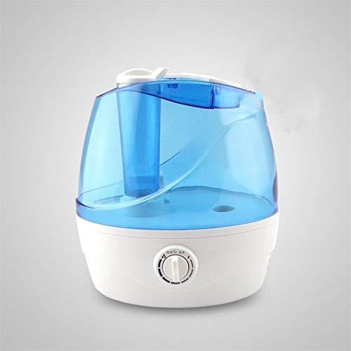 Enfriar humidificadores tranquilas Niebla Humidifier- for el Dormitorio, por ultrasonidos humidificador de bebé Opcional Temporizador, Easy Clean Sin Filtro humidificador (Color : Blue)