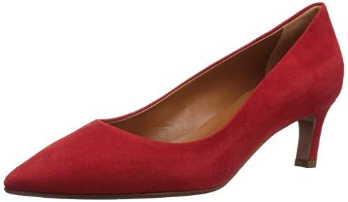 Aquatalia Women's Marianna Suede Pump, red, 9 M US