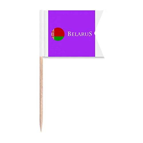 Weißrussland Osteuropäische Minsk-Flagge Zahnstocherflaggen Kennzeichnung für Party Kuchen Lebensmittel Käseplatte