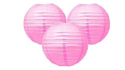 Matissa Paquet de 3 Lanterne en papier Décoration de mariage Décoration Artisanat Lampe Ombre (Rosée, 10\