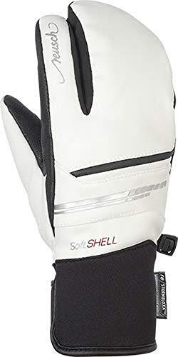 Reusch Damen Tomke STORMBLOXX Lobster Handschuh, White/Black, 7.5