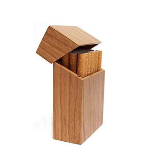 CHENG Exquisite Holz Zigarettenetui Magnet Adsorption Clamshell Druckbeständige Zigaretten Box,Color2,101X68X32CM
