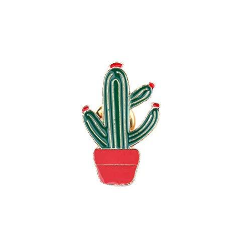 SFFSMD Cartoon Orgoglio Arcobaleno Cactus Uccello Spille Distintivo dello Smalto Pins Chitarra Ananas Occhiali da Sole Cappello perni del Risvolto Denim Gioielli Regalo Pin (Taglia : Cactus)