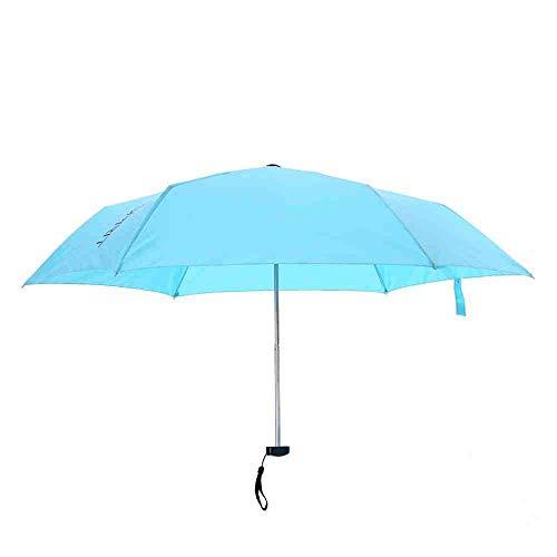 QNBD Regenschirm Frauen 6 Karat Mini Leichte Sonnenschirm Sonnenschirm Schutz 165g Kleine Taschenschirme Kid Regen AusrüstungBlau