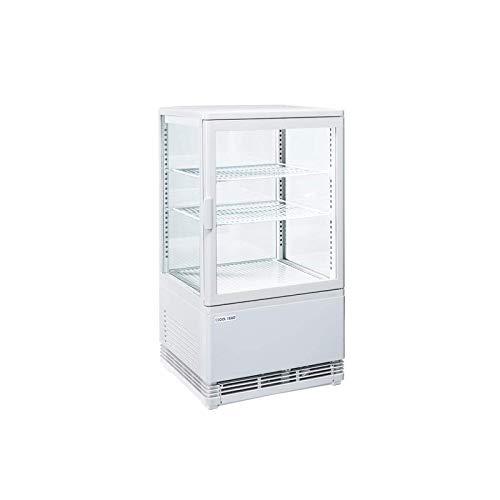 Vitrina refrigerada de 4 caras con cristal blanco positivo – 58 L – Cool Head –