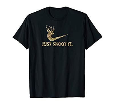 Just Shoot It Funny Deer Hunting Camouflage T-Shirt