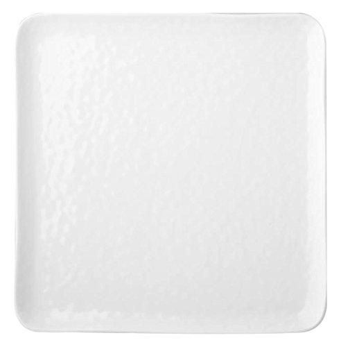 HOTELWARE Diamond Plat carré, 26 cm, Porcelaine, Blanc