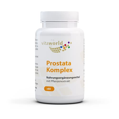Vita World Prostate Complex with Saw Palmetto, Pomegranate, Lycopene and Beta-Sitosterol 60 Capsules Vegan/Vegetarian Made in Germany