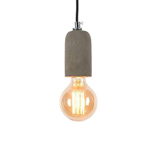 Addison Vintage Pendelleuchte E27 Beton Lampe Pendellampe Esstisch Hängelampe LED Deckenleuchte Betonlampe Hängeleuchte für Wohnzimmer Esszimmer Restaurant Bar Flur Cafe, 1-Flammig, Grün